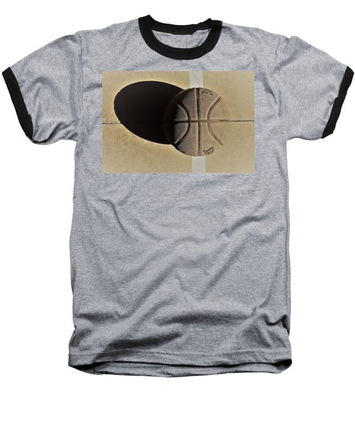 Round Ball And Shadow Baseball T-Shirt