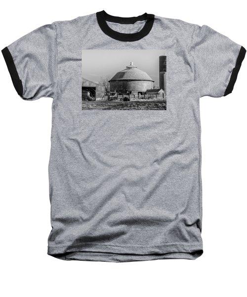 Round Barn Baseball T-Shirt by Dan Traun