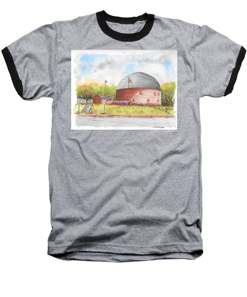 Round Barn In Route 66, Arcadia, Oklahoma Baseball T-Shirt