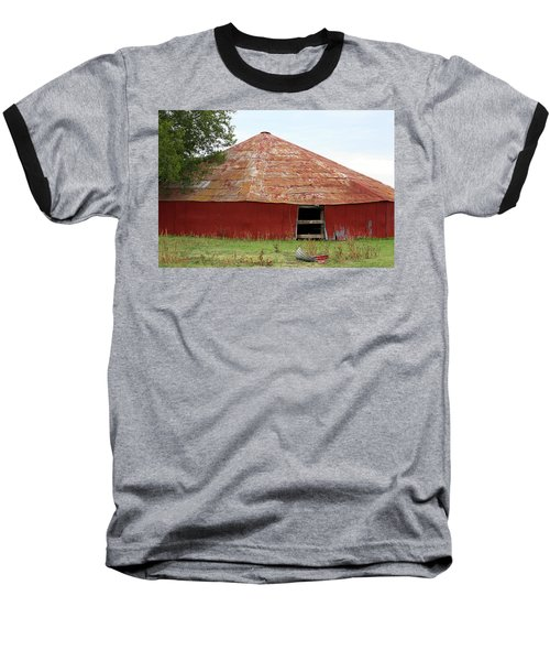 Baseball T-Shirt featuring the photograph Round Red Barn by Sheila Brown