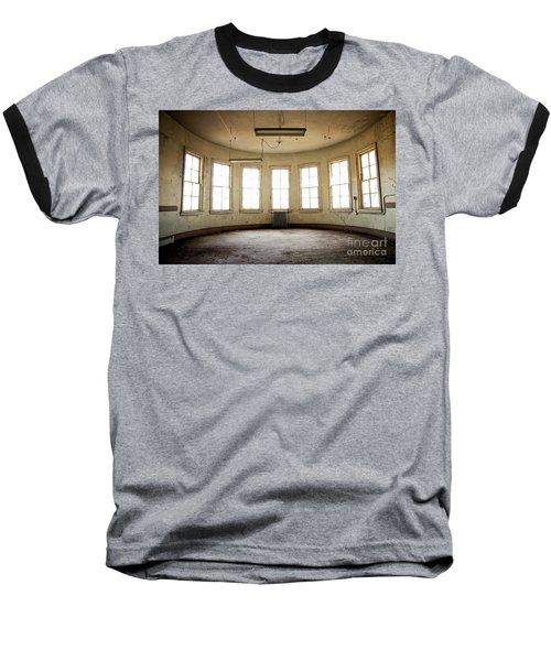 Round Room Baseball T-Shirt by Randall Cogle