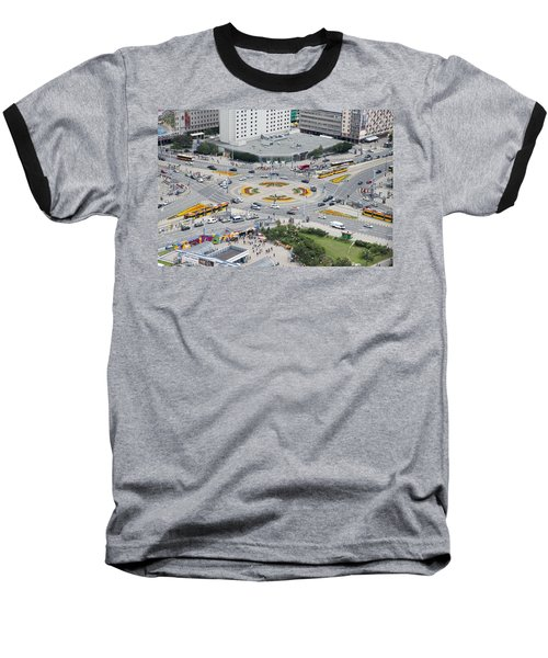 Roundabout In Warsaw Baseball T-Shirt by Chevy Fleet