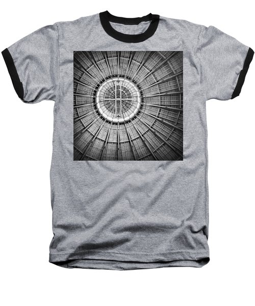 Roundhouse Architecture - Black And White Baseball T-Shirt