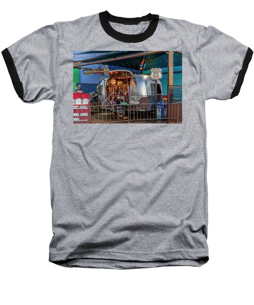 Route 66 And Airstream On Tha Pier Baseball T-Shirt
