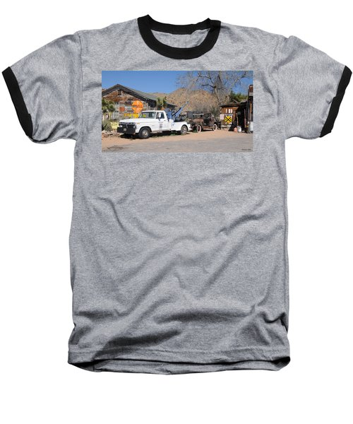Route 66 Old Shell Service Station Baseball T-Shirt