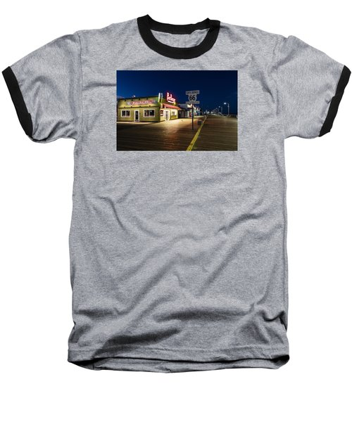 Route 66 Pier Burger Baseball T-Shirt by John McGraw
