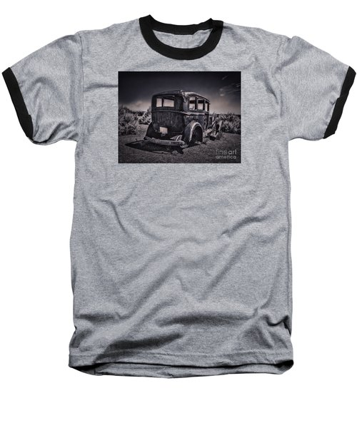 Route 66 Remembered  ... Baseball T-Shirt by Chuck Caramella