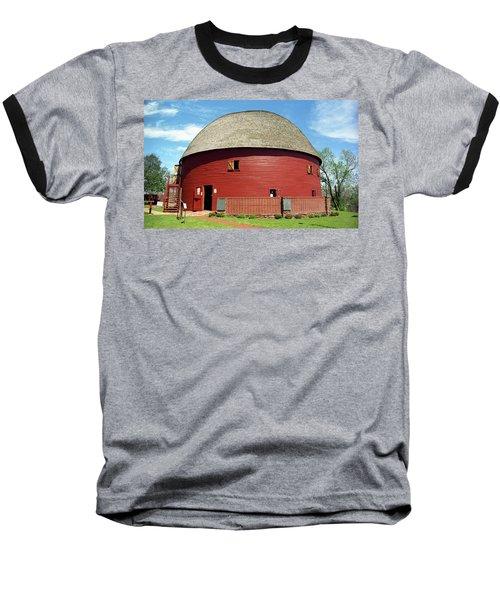 Route 66 - Round Barn Baseball T-Shirt