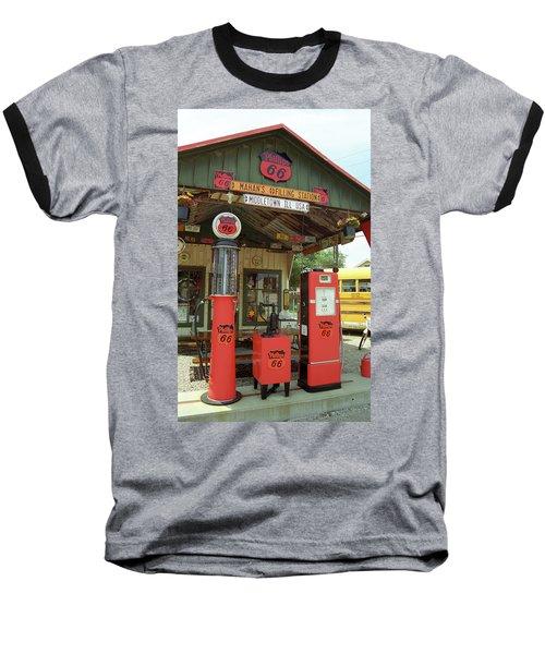 Route 66 - Shea's Gas Station Baseball T-Shirt