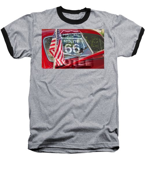 Baseball T-Shirt featuring the photograph Route 66 The American Highway by David Lee Thompson