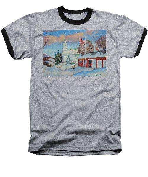 Route 8 North Baseball T-Shirt by Len Stomski