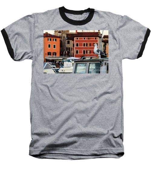 Rovinj Harbor Seagull - Rovinj, Istria, Croatia Baseball T-Shirt