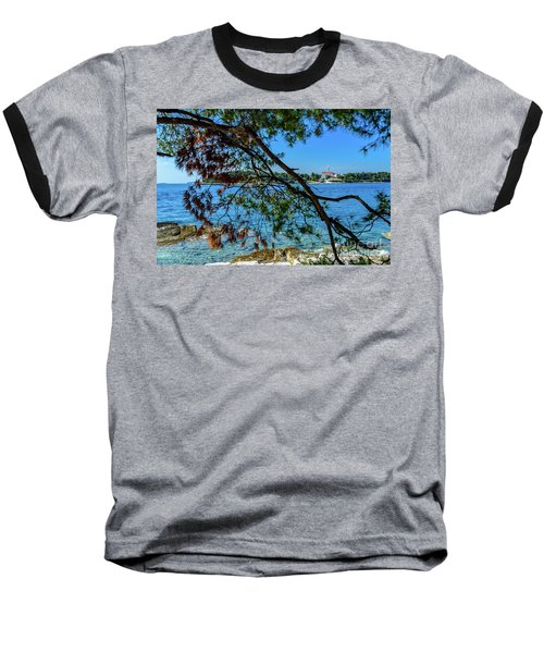 Rovinj Old Town Accross The Adriatic Through The Trees Baseball T-Shirt