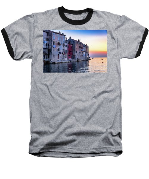Rovinj Old Town On The Adriatic At Sunset Baseball T-Shirt