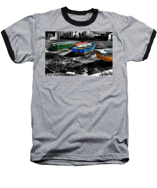 Row Boats At Mudeford Baseball T-Shirt