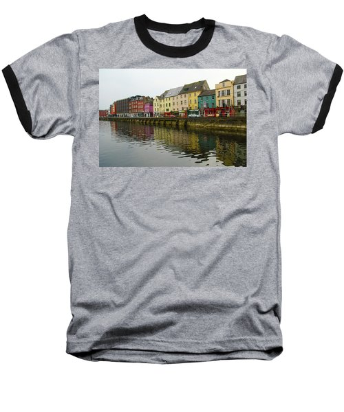 Row Homes On The River Lee, Cork, Ireland Baseball T-Shirt