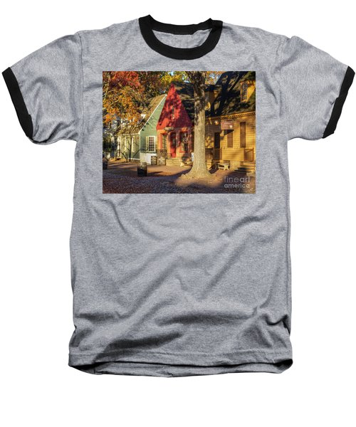Row Houses Duke Of Gloucester Colonial Williamsburg Baseball T-Shirt