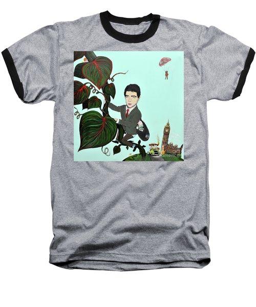 Rowan Atkinson Mr Beanstalk Baseball T-Shirt