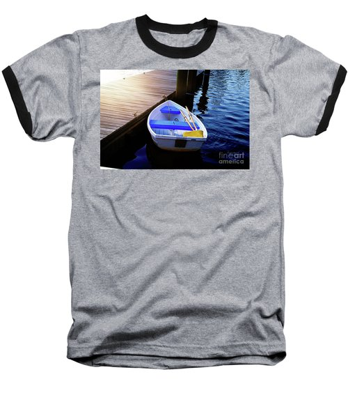 Rowboat At Sunset Baseball T-Shirt