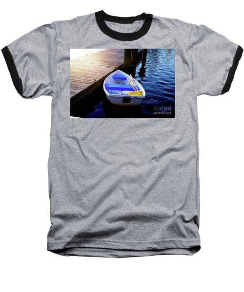 Rowboat At Sunset Baseball T-Shirt