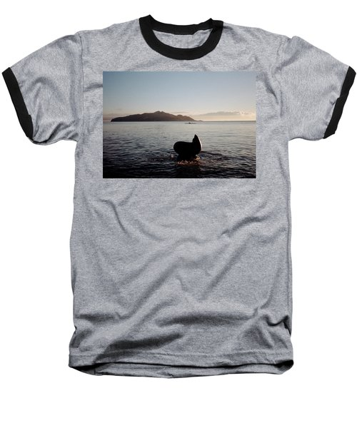Baseball T-Shirt featuring the photograph Rowing Off Sausalito, Ca by Frank DiMarco