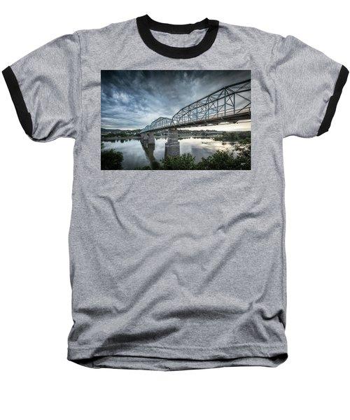 Rowing Under Walnut Street Baseball T-Shirt by Steven Llorca