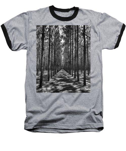 Rows Of Pines Vertical Baseball T-Shirt
