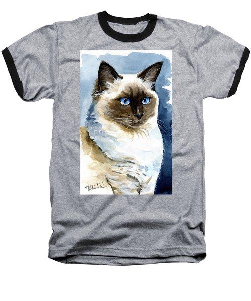 Roxy - Ragdoll Cat Portrait Baseball T-Shirt