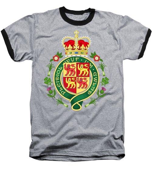 Royal Badge Of Wales Baseball T-Shirt