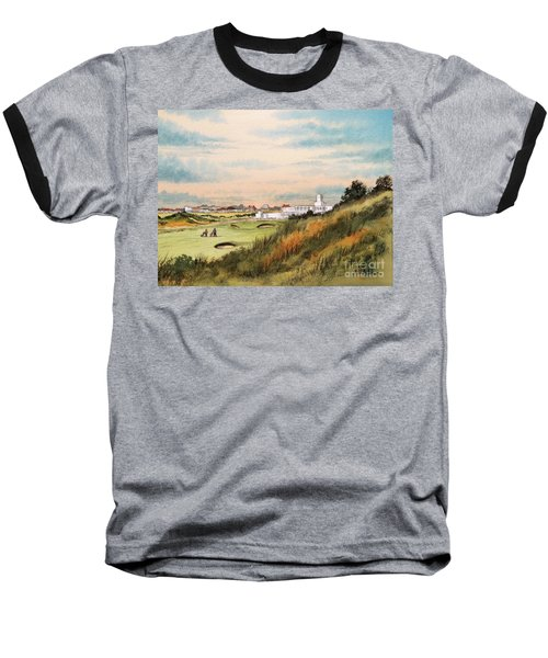 Baseball T-Shirt featuring the painting Royal Birkdale Golf Course 18th Hole by Bill Holkham