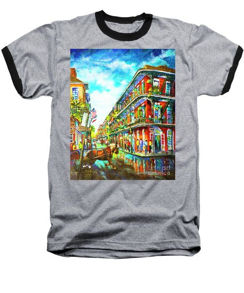 Royal Carriage - New Orleans French Quarter Baseball T-Shirt
