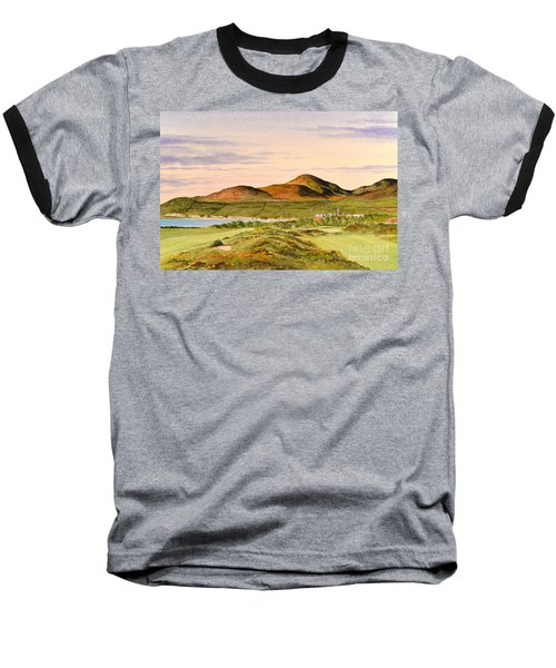 Royal County Down Golf Course Baseball T-Shirt by Bill Holkham