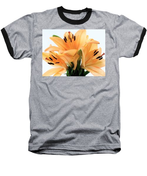 Baseball T-Shirt featuring the photograph Royal Lilies Full Open - Close-up by Ray Shrewsberry