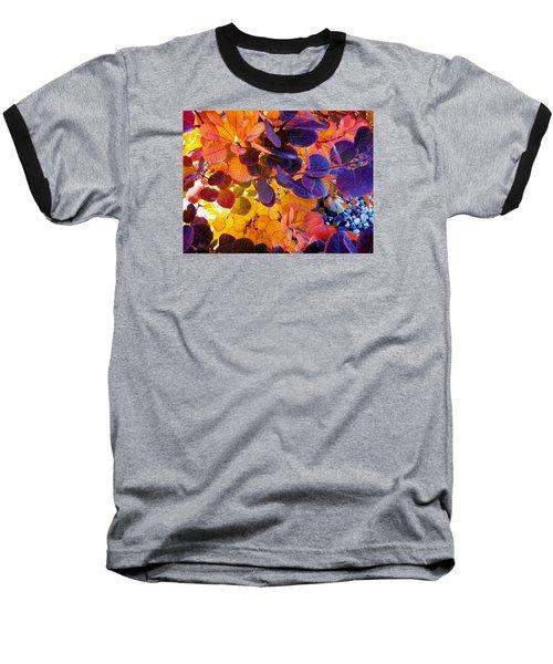 Royal Purple Smoke Bush Baseball T-Shirt
