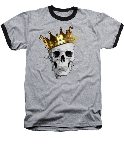 Baseball T-Shirt featuring the digital art Royal Skull by Nicklas Gustafsson