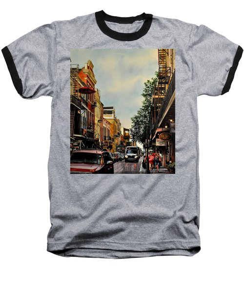 Royal Street Strole Baseball T-Shirt