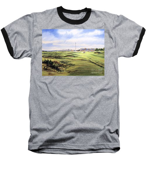 Royal Troon Golf Course Baseball T-Shirt by Bill Holkham