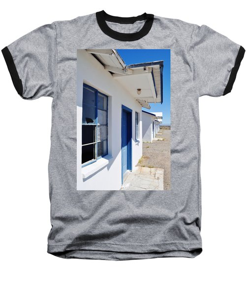 Roy's Motel And Cafe Auto Court Baseball T-Shirt by Kyle Hanson