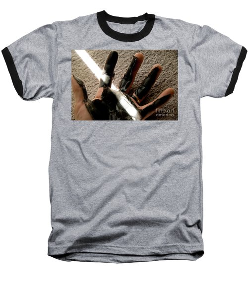 Baseball T-Shirt featuring the photograph Rubber Hand by Micah May