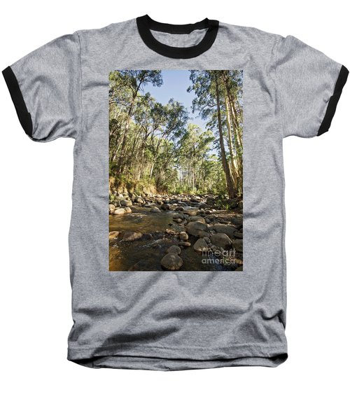 Baseball T-Shirt featuring the photograph Rubicon River by Linda Lees