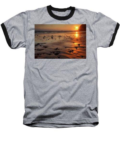Baseball T-Shirt featuring the photograph Ruby Beach Sunset by David Chandler
