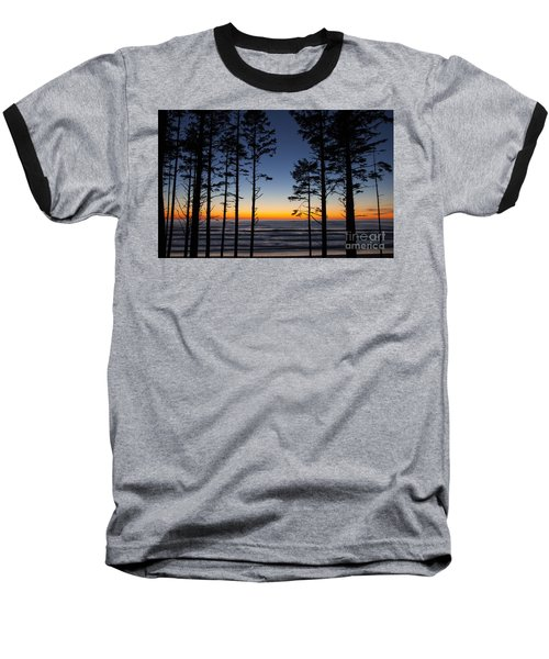 Ruby Beach Trees #4 Baseball T-Shirt