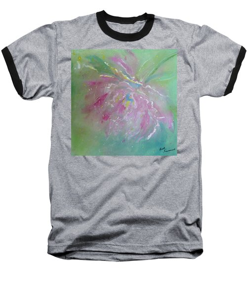 Ruby Red Peony Baseball T-Shirt