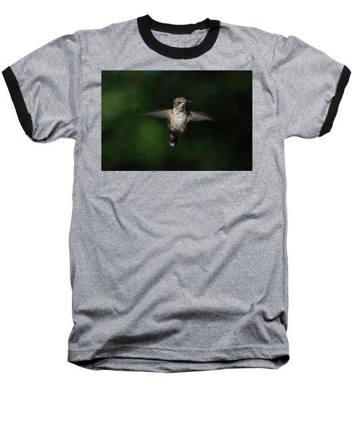 Ruby Throated Hummingbird Baseball T-Shirt
