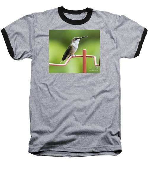 Baseball T-Shirt featuring the photograph Ruby-throated Hummingbird by Ricky L Jones