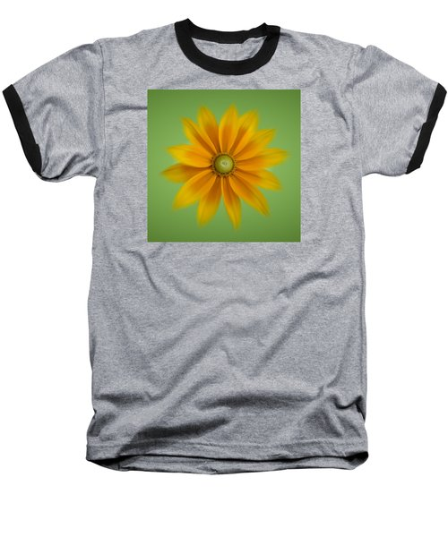 Rudbeckia Blossom Irish Eyes - Square Baseball T-Shirt by Patti Deters