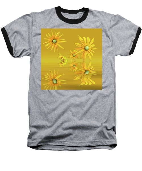 Baseball T-Shirt featuring the photograph Rudbekia Yellow Flowers by David French