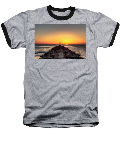 Rudee Inlet Jetty Baseball T-Shirt