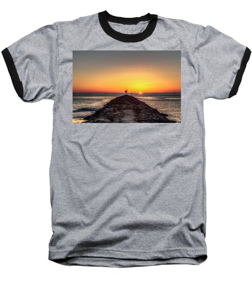 Rudee Inlet Jetty Baseball T-Shirt