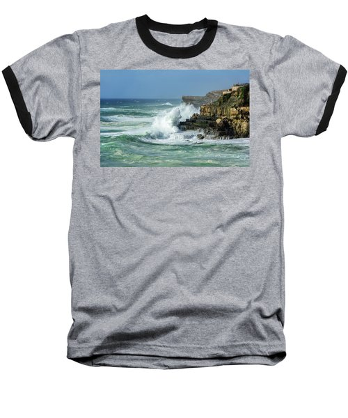 Rugged Coastal Seascape Baseball T-Shirt